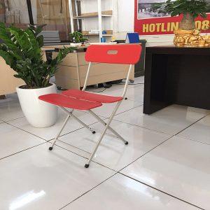 Ghế gấp 3 lá màu đỏ - GGMV01