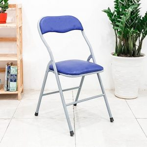 Ghế gấp lưng ngắn xanh chân sơn - GGMV02